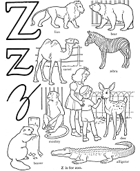 zoo coloring pages z for zoo alphabet coloring pages alphabet