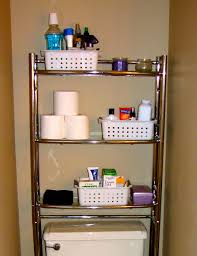 bathroom makeup storage ideas saving small bathroom spaces stainless steel vertical rack