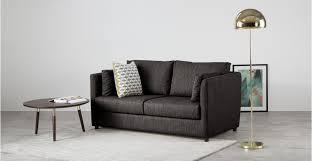 memory foam sofa bed milner sofa bed with memory foam mattress seal grey made com