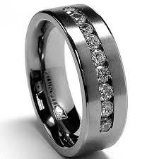 black wedding rings for men tungsten with black diamond wedding bands tungsten
