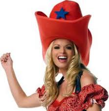 pjs trick shop halloween hats giant foam cowboy hat red
