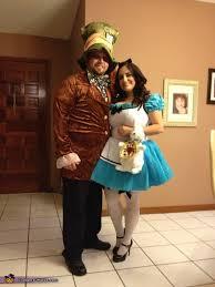 Mad Hatter Halloween Costume Alice Wonderland U0026 Mad Hatter Couples Halloween Costume