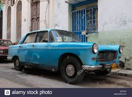 pergut car an old peugeot car in old havana cuba stock photo royalty free