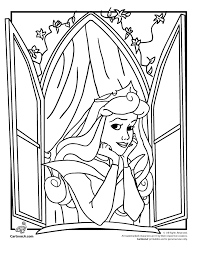 Disney Princesses Coloring Pages Cinderella And Sleeping Beauty Princess Coloring Pages