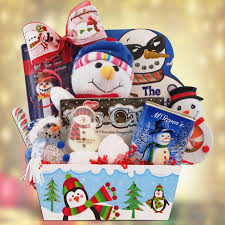christmas gift basket ideas christmas gift basket for children let it snow