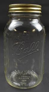 ball mason jar one quart original lid no 9 u0026 62a clear glass