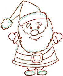 easy instructions for how to draw santa clause for kids how to