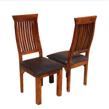 Ergonomic Dining Chairs Solid Wood Leather Dining Chair Set Of 2