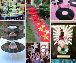 Disco Party Centerpieces Ideas by Rock Star Party Ideas Rock And Roll Party Ideas At Birthday In A Box