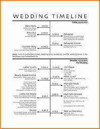 5 wedding day schedule template expense report