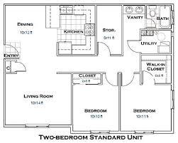 Best Apartment Floor Plans Floor Plan 2 Bedroom Apartment Contemporary On Bedroom 11 Best