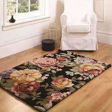 black floral rugs wool rugs therugshopuk