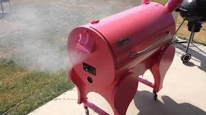 traeger lil pink pig smoking away youtube