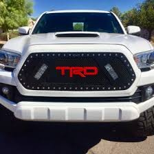 tacoma grill light bar toyota tacoma custom grilles billet mesh cnc led chrome black