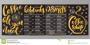 coffee shop menu template coffee shop menu template stock vector image of vintage 70941810