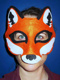 pinterest masquerade printable fox mask template mask template