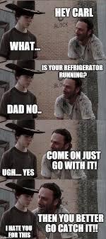 Running Dad Meme - rick and carl long meme imgflip