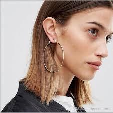 large hoop earrings 2018 gold hoop dangle earrings for women gold plated alloy