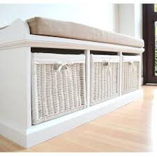 White Bench With Storage Tetbury Hallway Bench White Hallway Storage Bench With Baskets