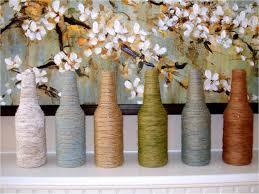 creative ideas for house decoration 25 easy diy home decor ideas decor crafts yarn wrapped bottles