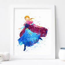 anna print frozen disney watercolor nursery wall decor disney anna print frozen disney watercolor nursery wall decor disney princess poster instant download frozen decorations printable