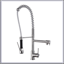 decor pull down commercial sink faucet in chrome for kitchen