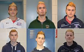 boys hockey haircuts boys hockey has new do for playoffs lancer spirit online