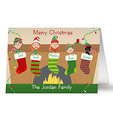 personalized christmas cards personalized christmas family character christmas cards