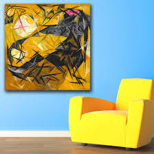 Yellow Black Room Online Get Cheap Black And Yellow Abstract Art Aliexpress Com