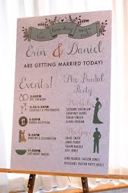order wedding programs event board ceremony program order of event board on easel fall