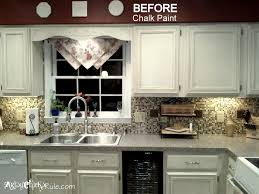 kitchen cabinet makeover with chalk paint kitchen decoration