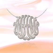 2 Inch Monogram Necklace Cheap Monogram Initial Necklace Silver Find Monogram Initial