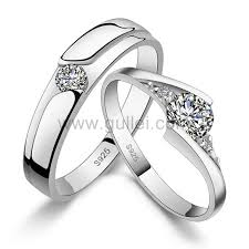 sterling wedding rings images Sterling silver engraved wedding bands set for men and women jpg