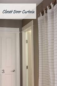 How To Fix Closet Doors My Simple And Done Fix Closet Door Curtain Diy Driftwood