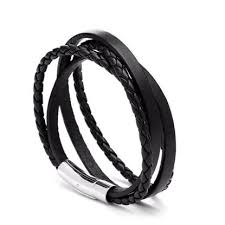 leather black bracelet images Melech fashion premium accessories genuine leather bracelets jpeg
