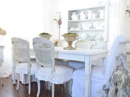 seat covers dining room chairs shabby elegant style dining room
