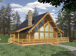 Chalet Plans by Simple Log Cabin House Plans With Outdoor Balcony For Design Ideas