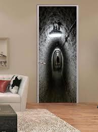 Door Decals For Home by Absenteeism Tunnel Shower Room Door Halloween Stickers Decoration