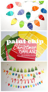 paint chip christmas garland kid craft a and a glue gun
