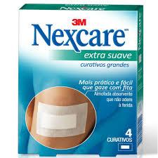 Amado Curativo Nexcare 3M Extra Suave 4 Unidades - Drogaria Sao Paulo #SH64