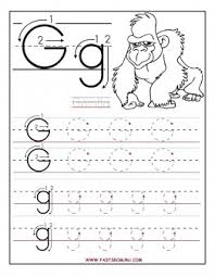 printable letter g tracing worksheets for preschool printable