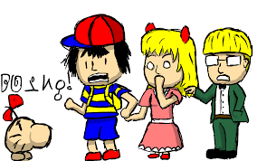 earthbound halloween hack story comic the chosen four an earthbound adventure encounter in