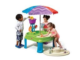 step 2 sand and water table parts step2 splash and scoop bay with umbrella play table walmart canada