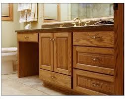 Oak Vanity W Dressing Table Traditional Bathroom Milwaukee - Bathroom vanity tables
