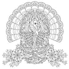 printable thanksgiving coloring pages for adults u2013 festival