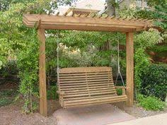 Arbor Ideas Backyard Freestanding Yard Swings It U0027s A Compact Arbor That Is Cleverly