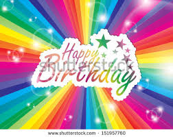 vector illustration happy birthday greeting card stock vector