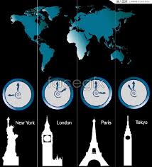 vector time and buildings world the around zone time every