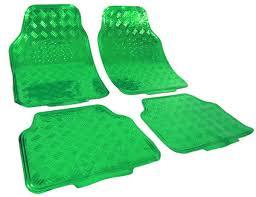 tappeti verdi 4 tappeti sportivi in gomma cromati universali look verdi
