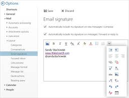 how to manage your email signature in outlook
